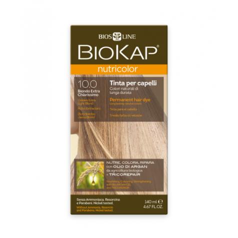 Краска для волос BioKap Nutricolor золотистый очень светлый блондин тон 10.0, 140мл