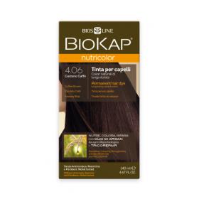 Краска для волос BioKap Nutricolor кофейно-коричневый тон 4.06, ...