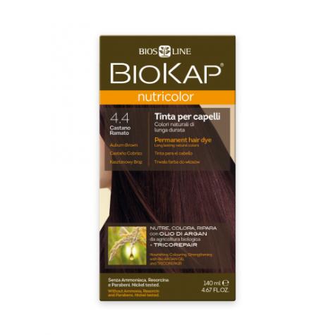 Краска для волос BioKap Nutricolor медно-коричневый тон 4.4, 140мл