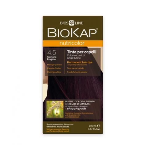 Краска для волос BioKap Nutricolor махагон (темно-коричневато-красный) тон 4.5, 140мл