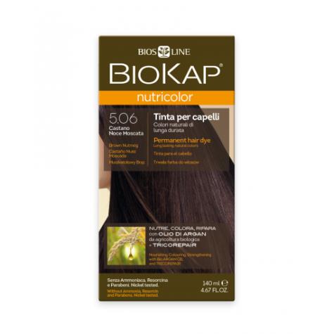 Краска для волос BioKap Nutricolor коричневый (мускатый орех) тон 5.06, 140мл