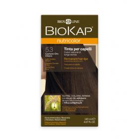 Краска для волос BioKap Nutricolor светло-коричневый золотистый тон 5.3, 140мл