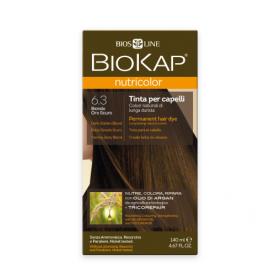 Краска для волос BioKap Nutricolor тёмно-золотистый блондин 6.3,...