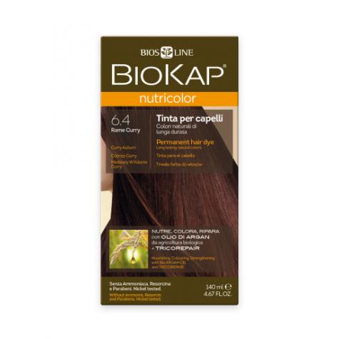 Краска для волос BioKap Nutricolor медно-золотистый карри 6.4, 140мл