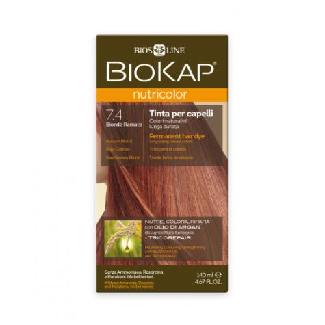 Краска для волос BioKap Nutricolor медный блондин тон 7.4,140мл