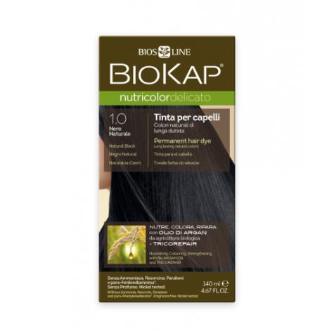 Краска для волос BioKap Delicato чёрный натуральный тон 1.0, 140мл