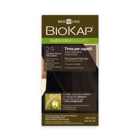 Краска для волос BioKap Delicato тёмно-каштановый шоколадный тон 2.9, 140мл