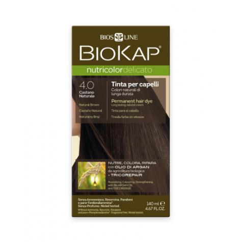 Краска для волос BioKap Delicato коричневый тон 4.0, 140мл