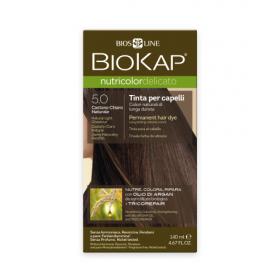 Краска для волос BioKap Delicato светло-коричневый тон 5.0, 140мл