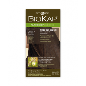 Краска для волос BioKap Delicato каштановый светло-коричневый тон 5.05, 140мл