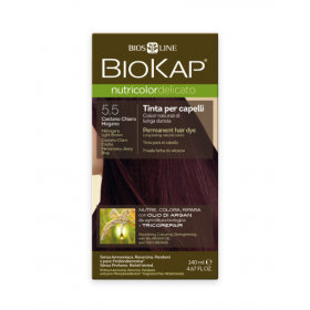 Краска для волос BioKap Delicato махагон (светло-коричневато-красный) тон 5.5, 140мл