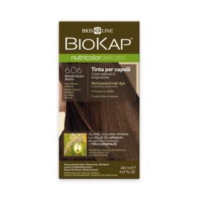 Краска для волос BioKap Delicato гавана (коричневый с оттенком серого) тон 6.06, 140мл
