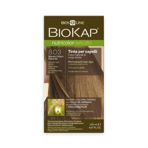 Краска для волос BioKap Delicato блондин натуральный светлый тон 8.03, 140мл