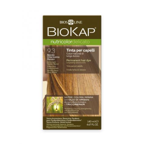 Краска для волос BioKap Delicato очень светлый золотой 9.3, 140мл
