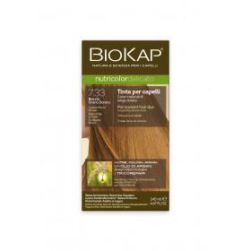 Краска для волос BioKap Delicato блондин золотистый пшеничный тон 7.33, 140мл